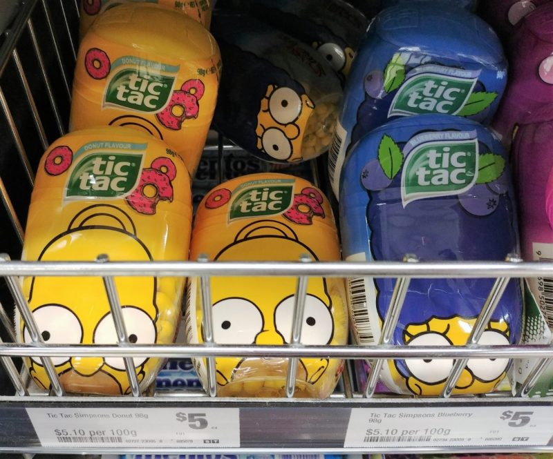 Tic Tac 98g Simpsons Flavour Donut, Blueberry