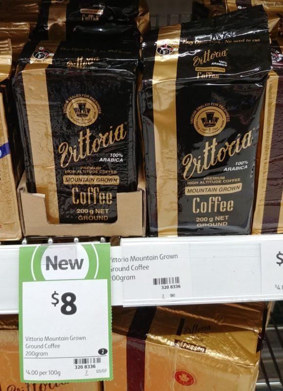Vittoria 200g Ground Coffee Mountian Grown