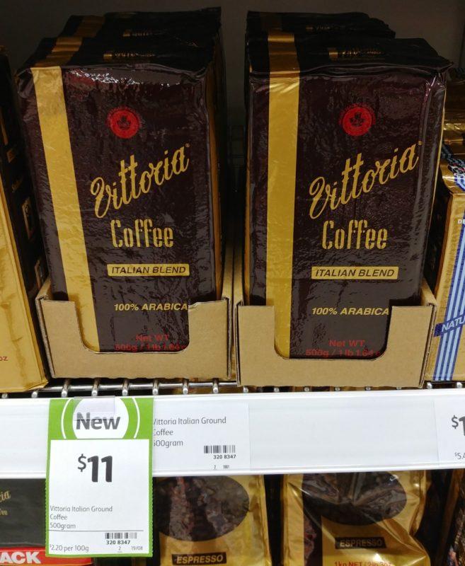 Vittoria 500g Ground Coffee Italian Blend