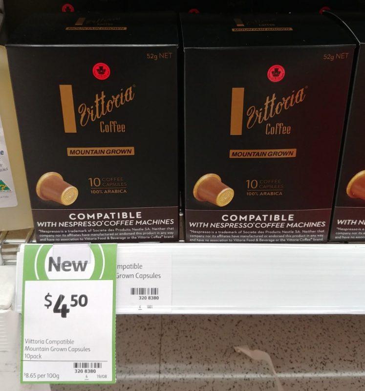 Vittoria 52g Coffee Pods Mountain Grown
