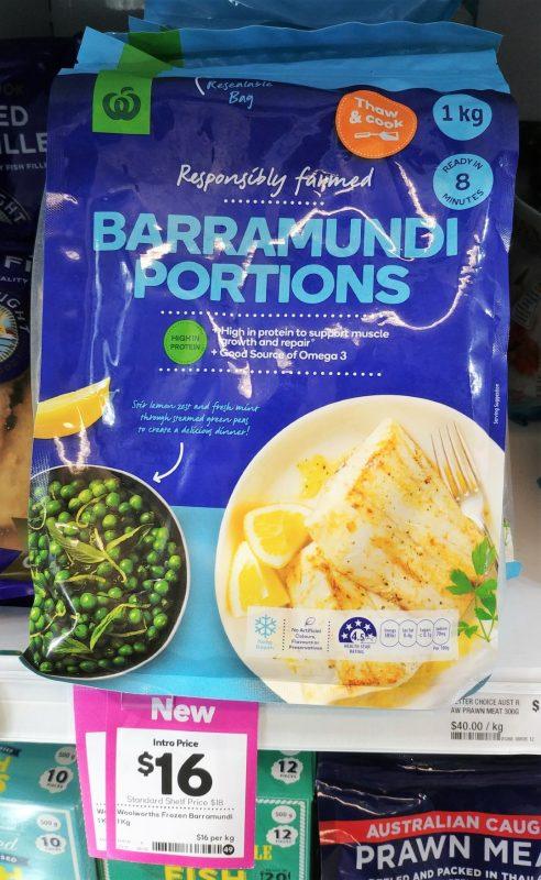 Woolworths 1kg Barramundi Portions Frozen