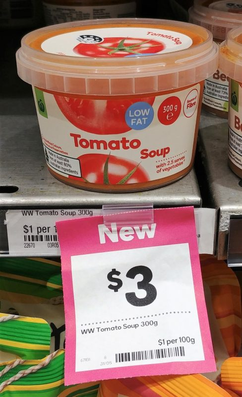 Woolworths 300g Tomato Soup