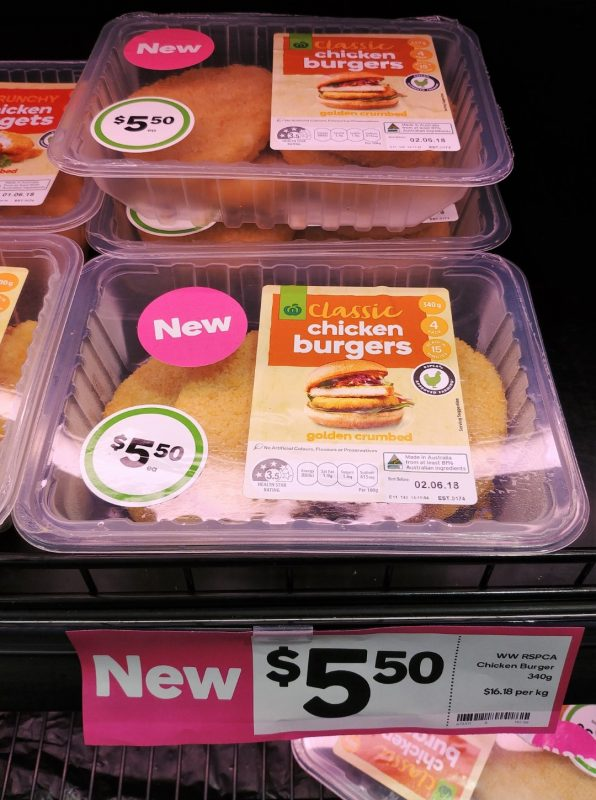 Woolworths 340g Chicken Burgers Classic Golden Crumbed