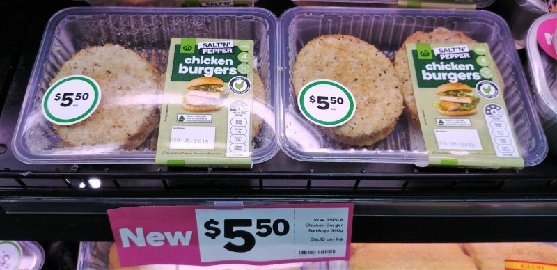 Woolworths 340g Chicken Burgers Salt 'N' Pepper