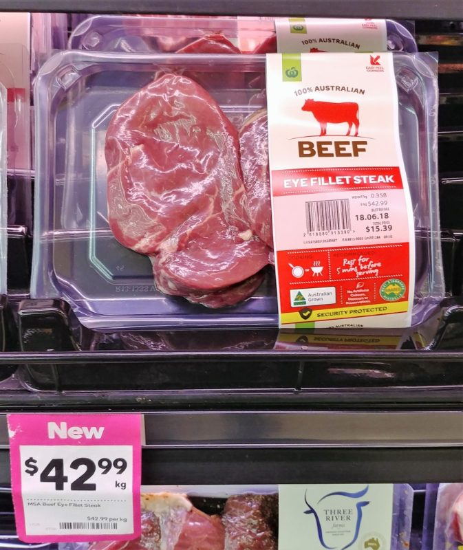 Woolworths $42.99 Kg Beef Eye Fillet Steak