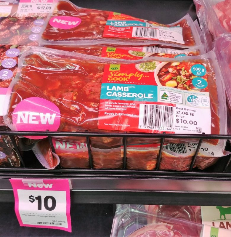 Woolworths 500g Simply Cook Lamb Casserole