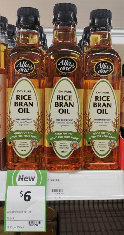 Alfa One 750mL Rice Bran Oil