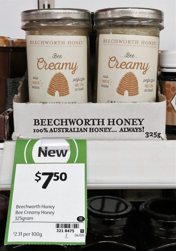 Beechworth Honey 325g Bee Creamy Creamy Honey