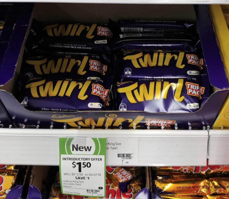 Cadbury 58g Twirl Triple Pack