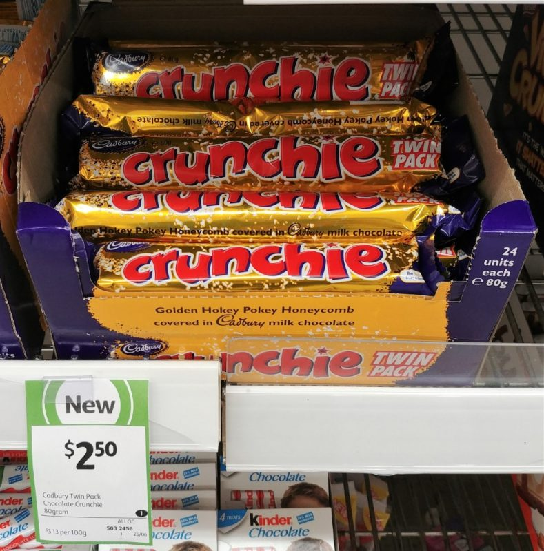 Cadbury 80g Crunchie Twin Pack