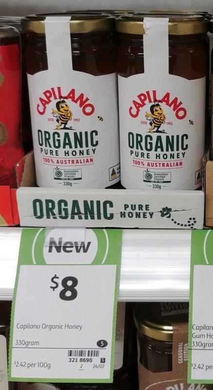 Capilano 330g Organic Pure Honey