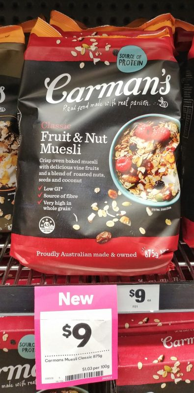 Carman's 875g Fruit & Nut Muesli Classic