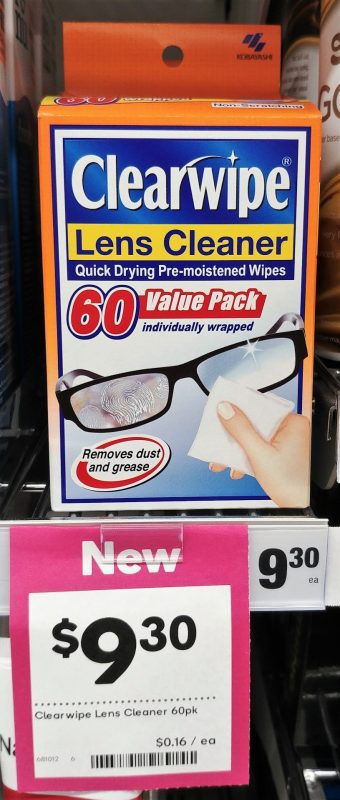 Clearwipe 60 Pack Lens Cleaner