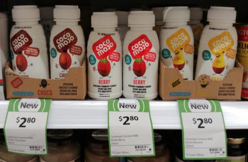 Coco Mojo 250mL Coconut Milk Drink Chocolate, Berry, Banana