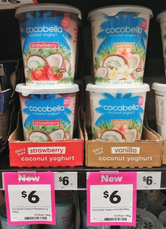 Cocobella 500g Coconut Yoghurt Strawberry, Vanilla