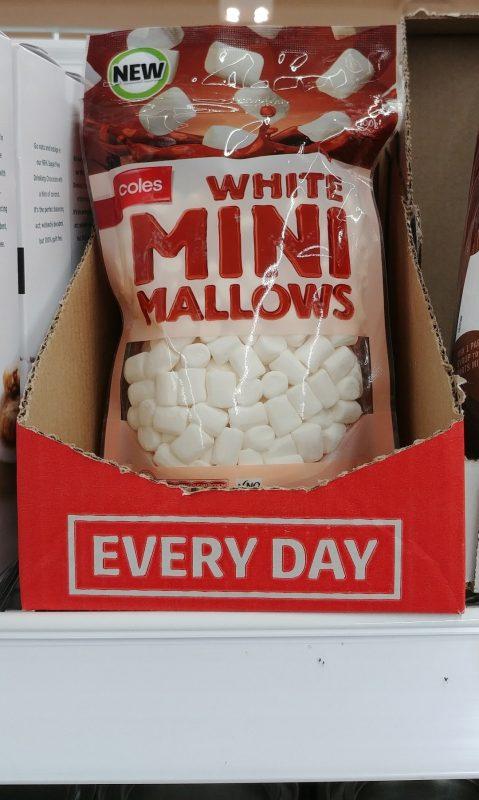 Coles 100g Mallows Mini White