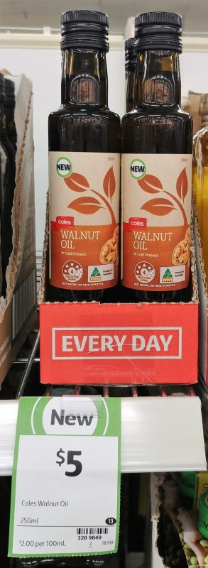 Coles 250mL Walnut Oil