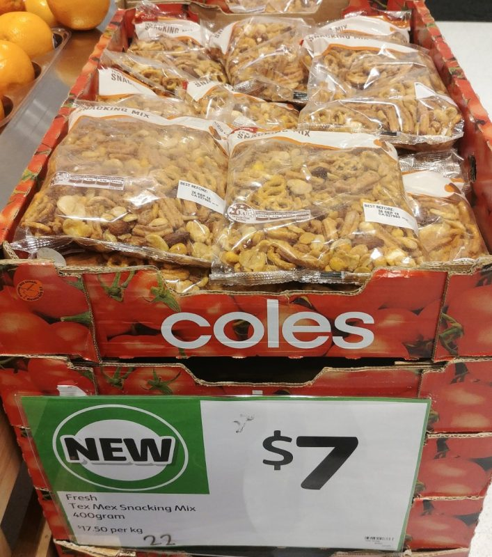 Coles 400g Snacking Mix Tex Mex