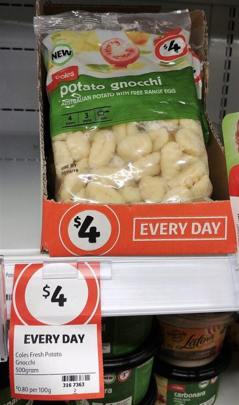 Coles 500g Gnocchi Potato