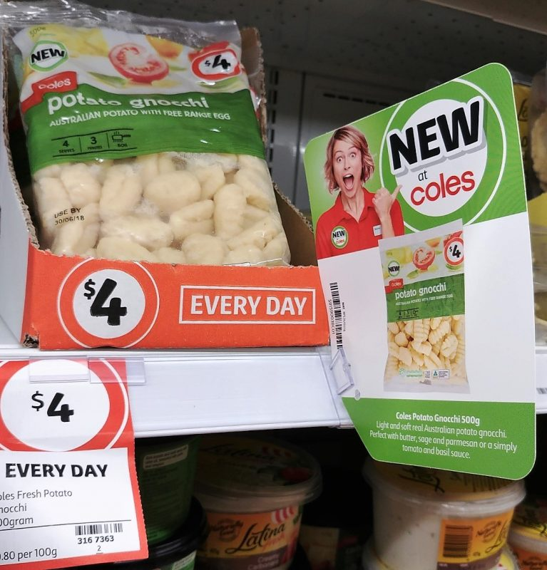 Coles 500g Gnocchi Potato New Girl Jenny