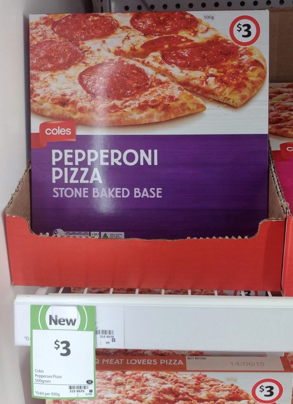 Coles 500g Pizza Pepperoni