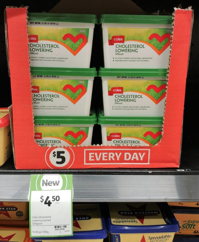 Coles 500g Spread Cholesterol Lowering