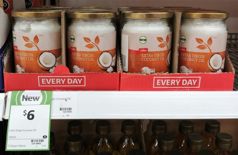 Coles 500mL Coconut Oil Extra Virgin