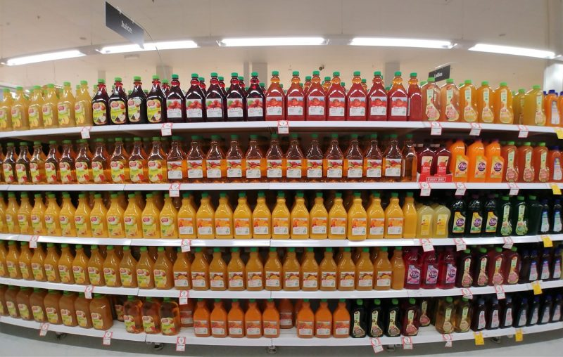 Coles Supermarket Aisle Juice – June 2018