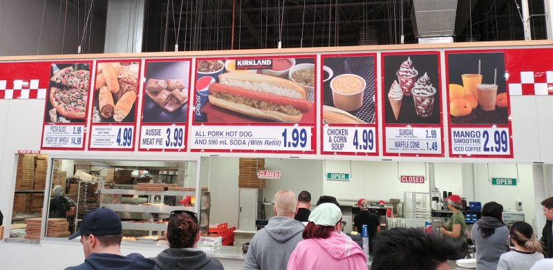 Costco Foodcourt Menu Board Australia