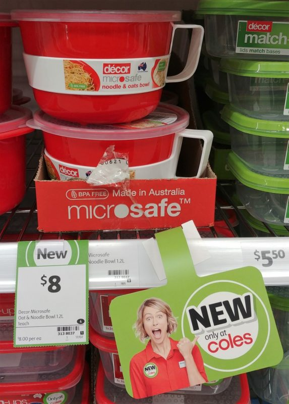 Decor 1.2L Noodle & Oats Bowl Microsafe