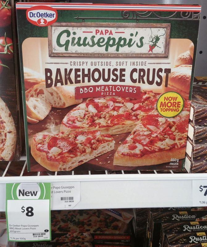 Dr Oetker 460g Papa Giuseppi's Pizza Bakehouse Crust BBQ Meatlovers