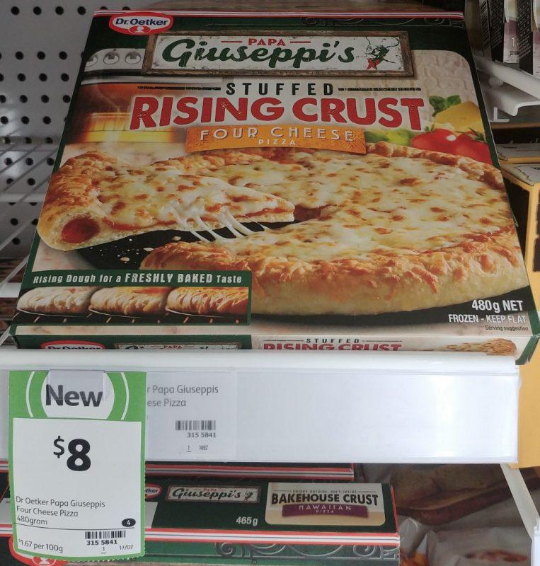 Dr Oetker 480g Papa Giuseppi's Pizza Rising Crust Four Cheese