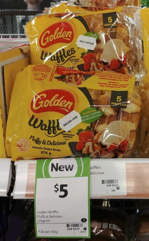 Golden 275g Waffles Fluffy & Delicious