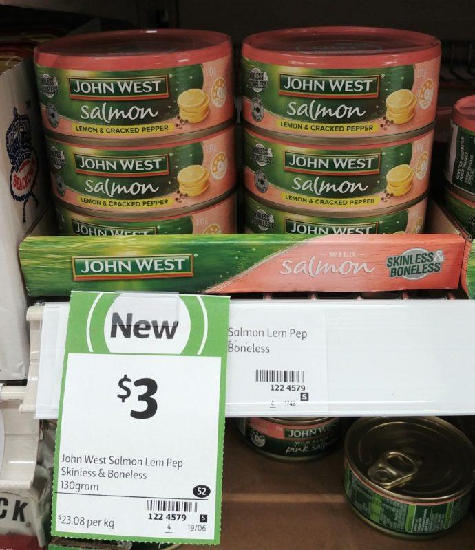 John West 130g Wild Salmon Lemon & Cracked Pepper