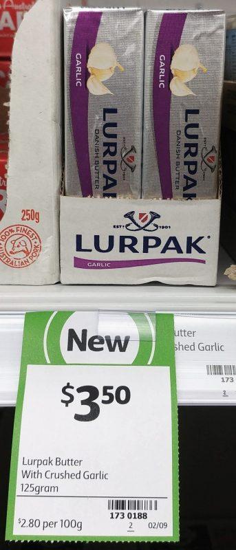 Lurpak 125g Butter Garlic