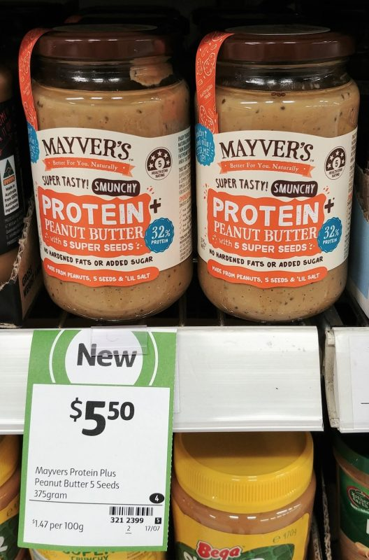 Mayver's 375g Protein + Peanut Butter With 5 Super Seeds