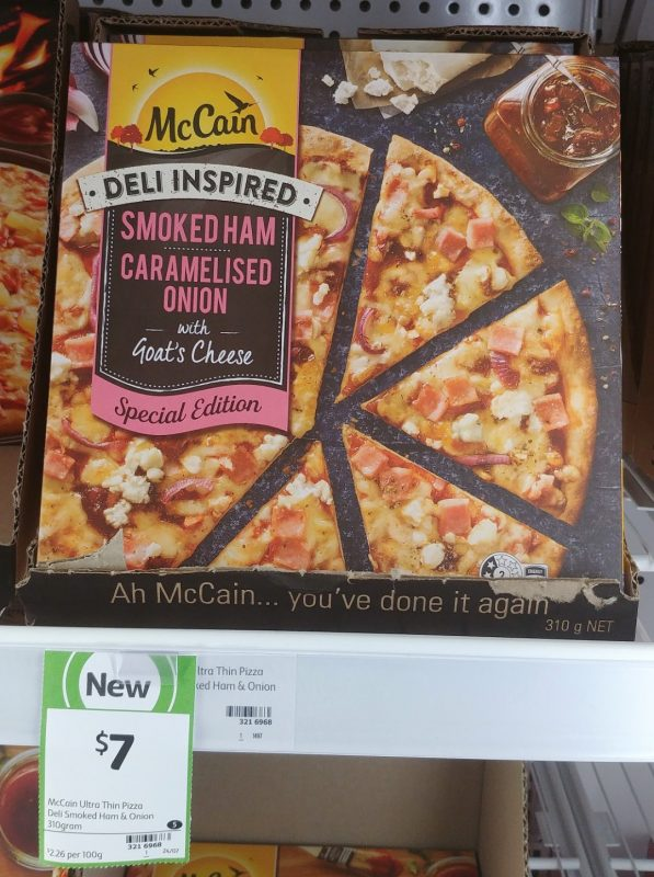 McCain 310g Pizza Deli Inspired Special Edition Smoked Ham Caramelised Onion