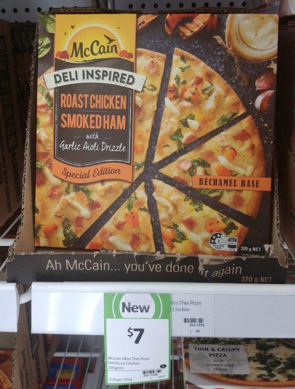 McCain 320g Pizza Deli Inspired Special Edition Roast Chicken Smoked Ham