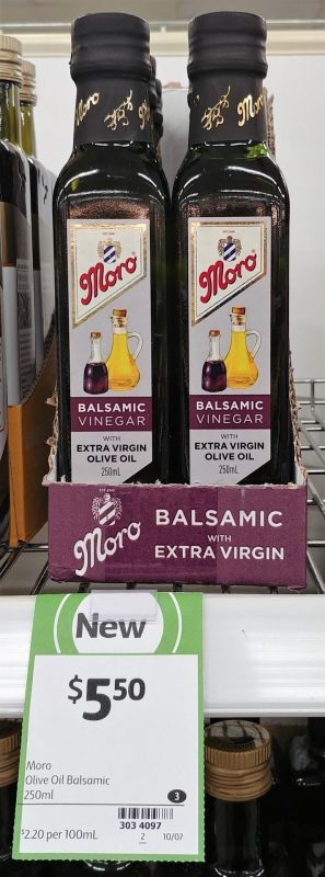 Moro 250mL Balsamic Vinegar With Extra Virgin Olive Oil