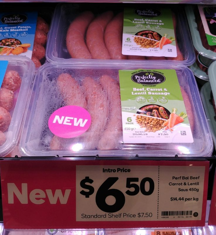 Perfectly Balanced 450g Sausages Beef, Carrot & Lentil