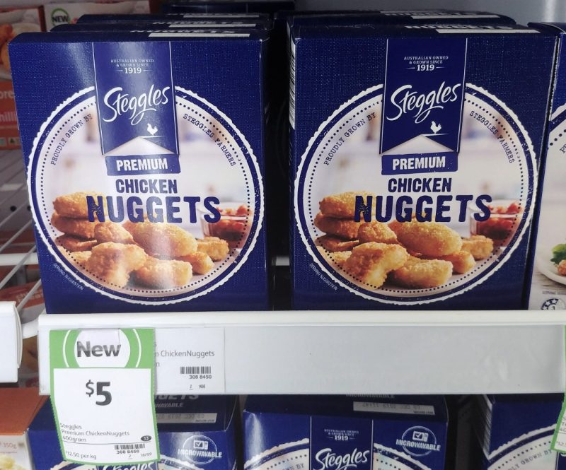 Steggles 400g Chicken Nuggets Premium