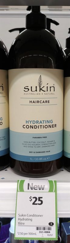 Sukin 1L Hydrating Conditioner
