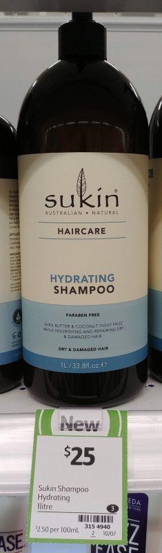 Sukin 1L Hydrating Shampoo