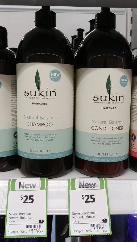Sukin 1L Natural Balance Shampoo, Conditioner