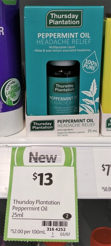 Thursday Plantation 25mL Peppermint Oil