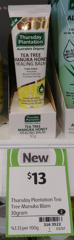 Thursday Plantation 30g Healing Balm Tea Tree Manuka Honey