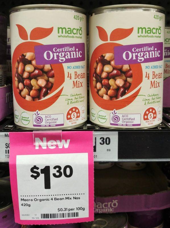Woolworths 420g Macro Organic 4 Bean Mix