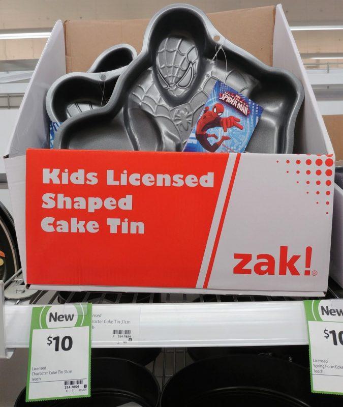 Zak Designs 1 Pack Cake Tin Kids Licensed Shaped