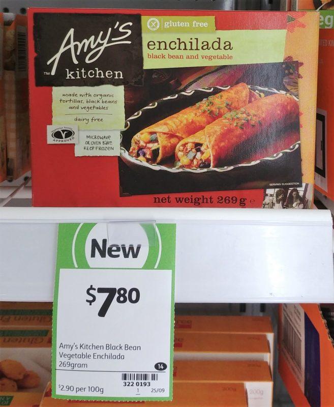 Amy's Kitchen 269g Enchilada Black Bean And Vegetable