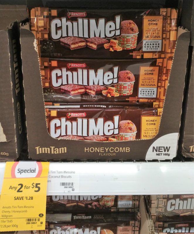 Arnott's 160g Tim Tam Chill Me! Honeycomb Flavour